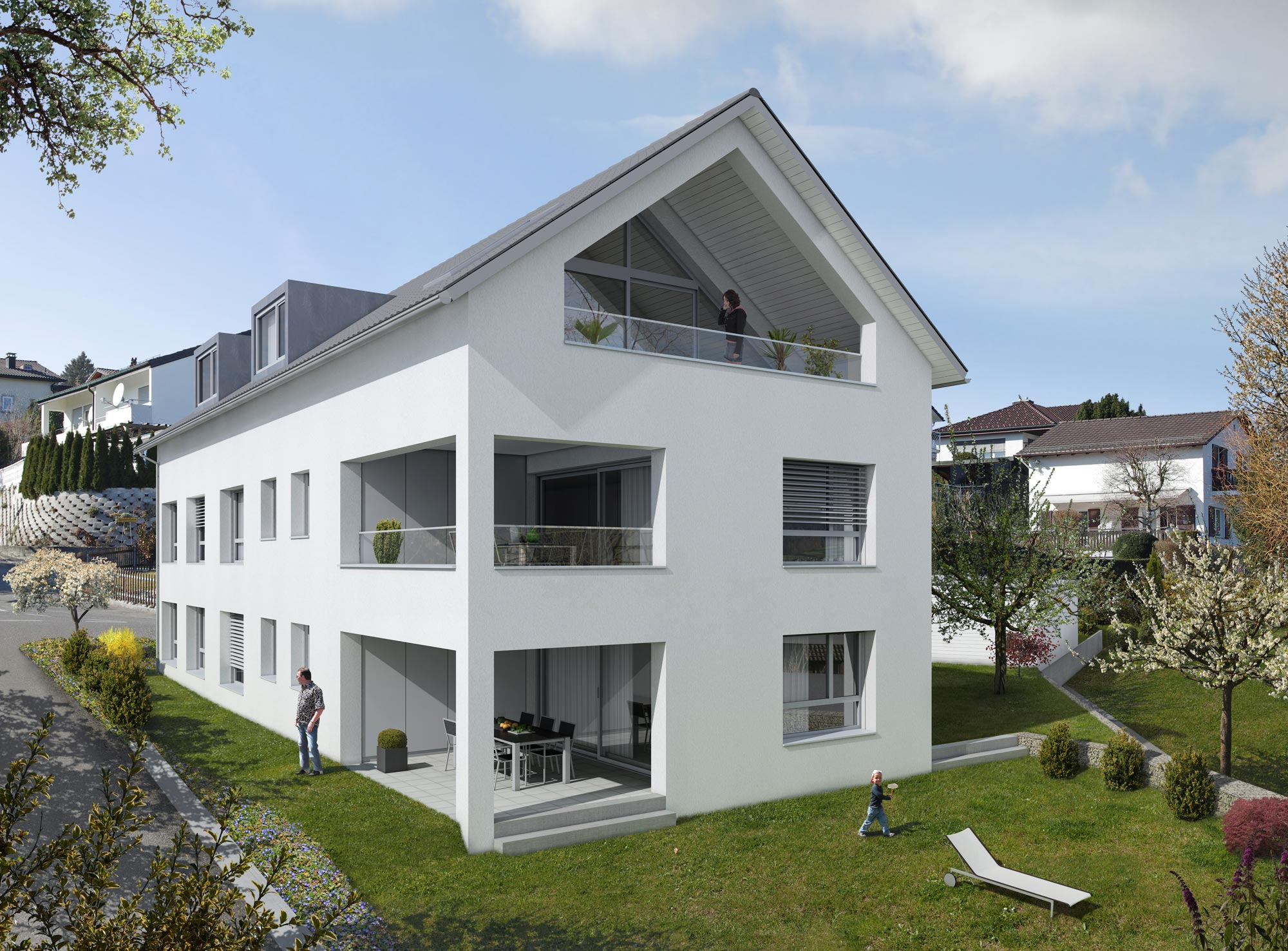 mehrfamilienhaus neubau baustein ag. Black Bedroom Furniture Sets. Home Design Ideas